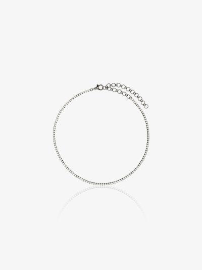 18K black gold diamond tennis necklace