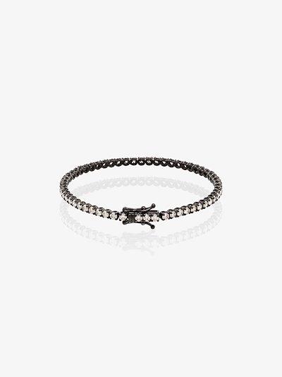 18K black gold Mini Tennis diamond bracelet