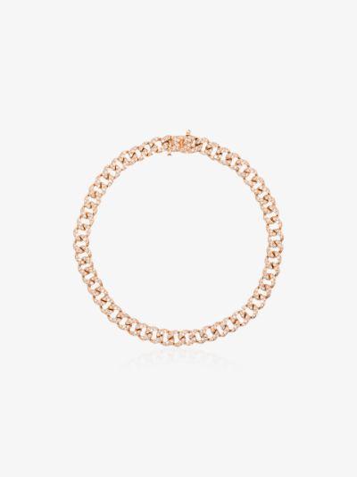 18K rose gold Baby Link diamond bracelet