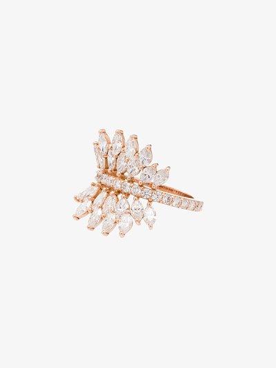 18K rose gold Butterfly diamond ring