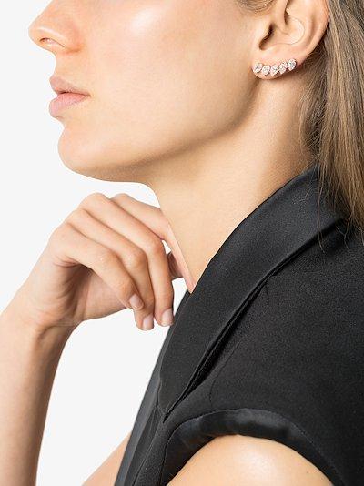 18K rose gold diamond crawler earring