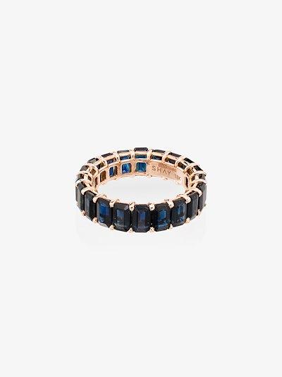 18K rose gold Eternity sapphire ring