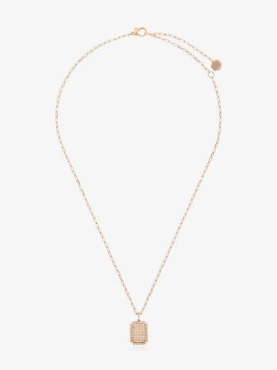 18K rose gold ID diamond necklace