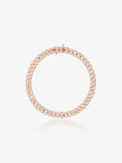 18K rose gold mini link diamond bracelet