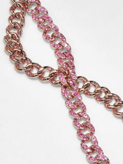 18K rose gold mini link sapphire bracelet