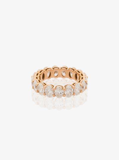 18K rose gold oval diamond eternity ring