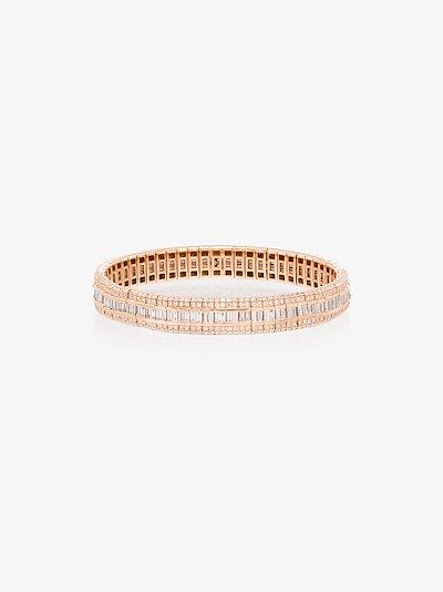 18K rose gold Pavé Scales Stretch diamond bracelet