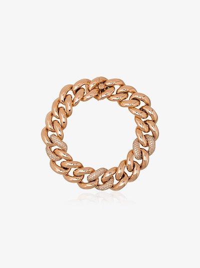 18K rose gold Triple Pavé Jumbo Link diamond bracelet