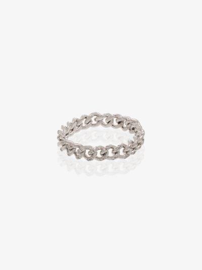 18K white gold Baby Link diamond ring