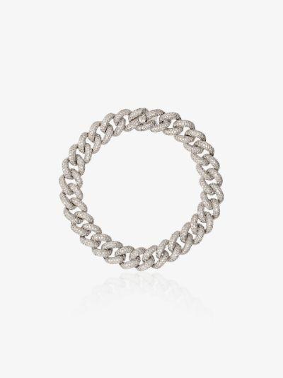 18K white gold essential link diamond bracelet