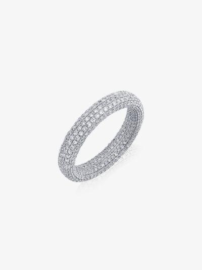 18K white gold Inside Out diamond eternity ring