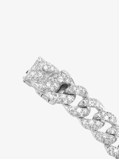 18K white gold mini flat link diamond bracelet