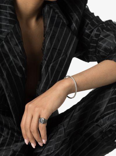 18K white gold Pavé Square Stretch diamond bracelet