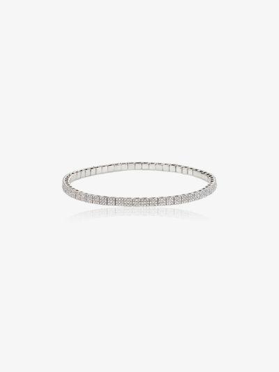 18K white gold stretch diamond bracelet