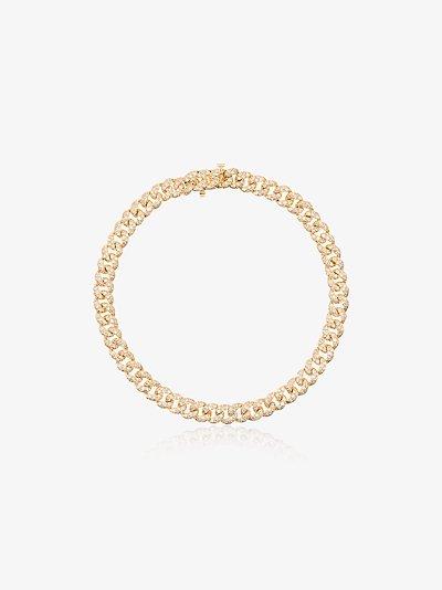 18K yellow gold Baby Link diamond bracelet