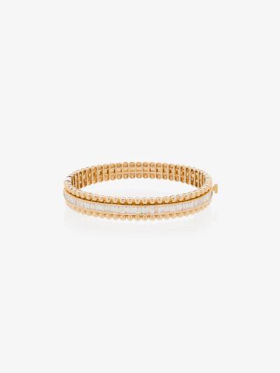 18K yellow gold ball stretch diamond bracelet