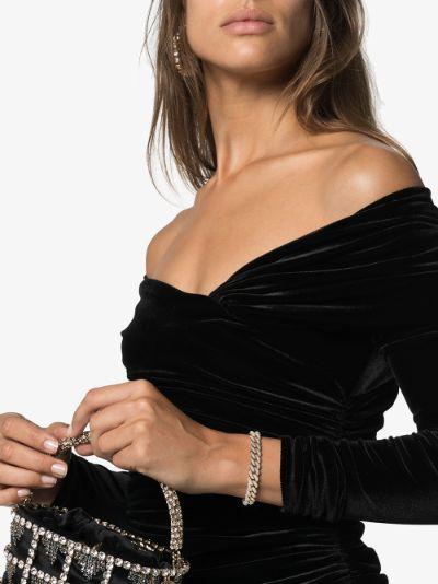 18K yellow gold essential link diamond bracelet