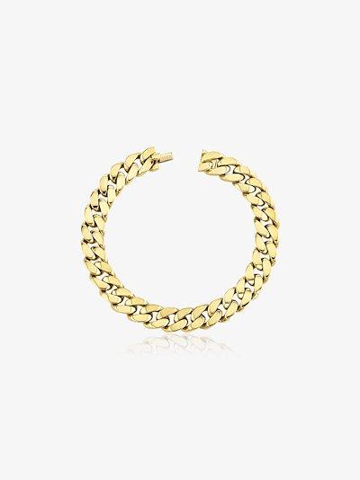 18k yellow gold flat link bracelet