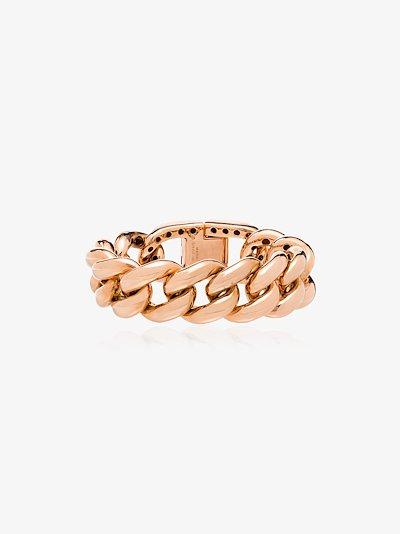 18K yellow gold Horseshoe Lock Jumbo Link diamond bracelet