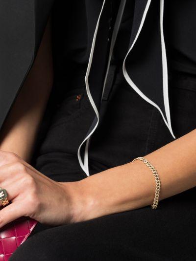 18K yellow gold mini pavé diamond link bracelet