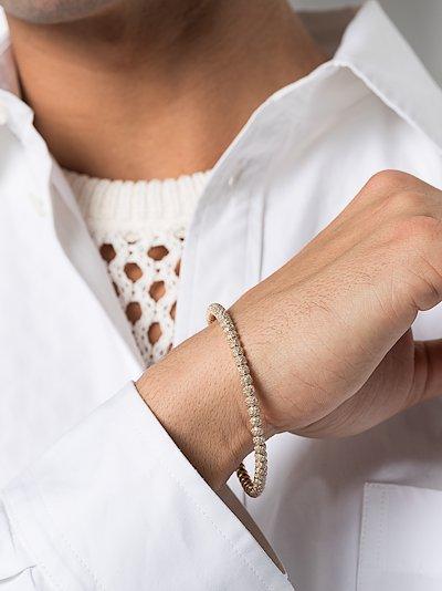 18K yellow gold pavé diamond bracelet