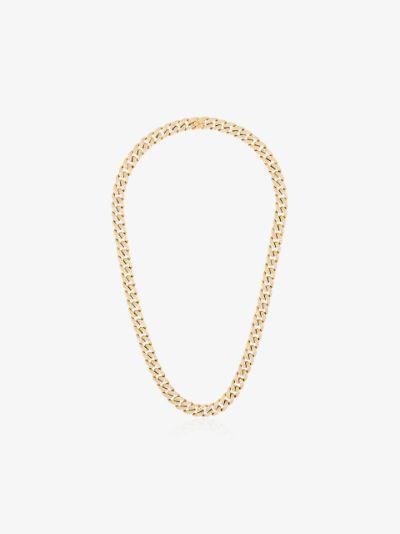 18K yellow gold pavé diamond link necklace