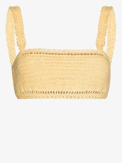 Ruffled crochet crop top