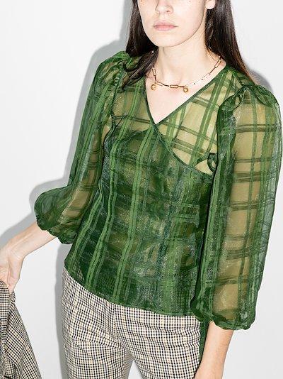 Cordelia checked organza blouse