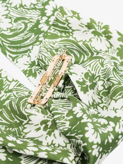 green Fortuna bow hair clip