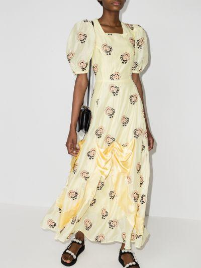 Mia Embroidered Heart maxi Dress