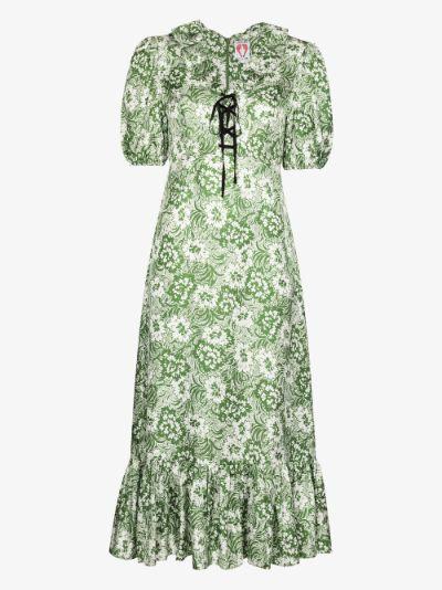 oakley silk midi dress
