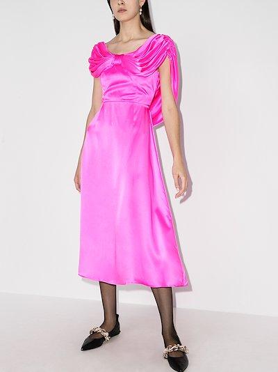oscar bow front midi dress