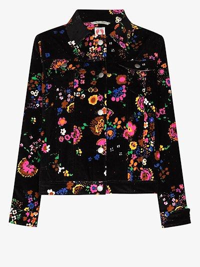 Reeve floral print velvet jacket