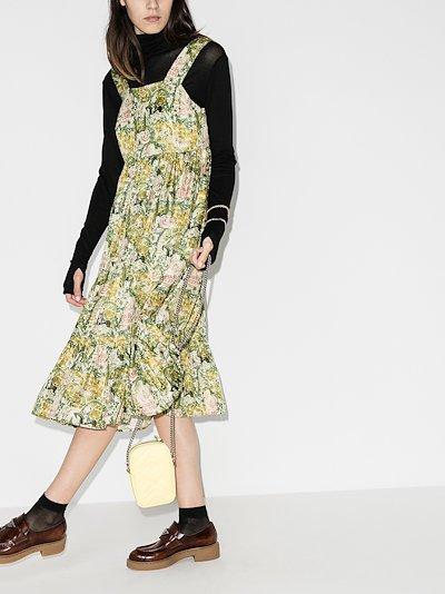Sylvia floral silk midi dress