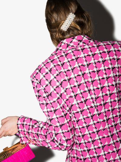 white Antonia beaded hair clip