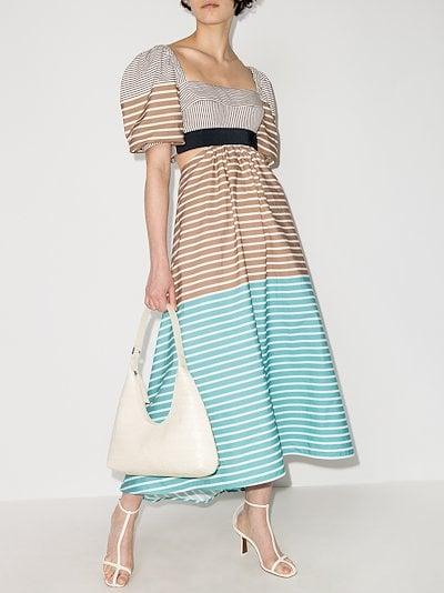 Blaine striped cotton midi dress
