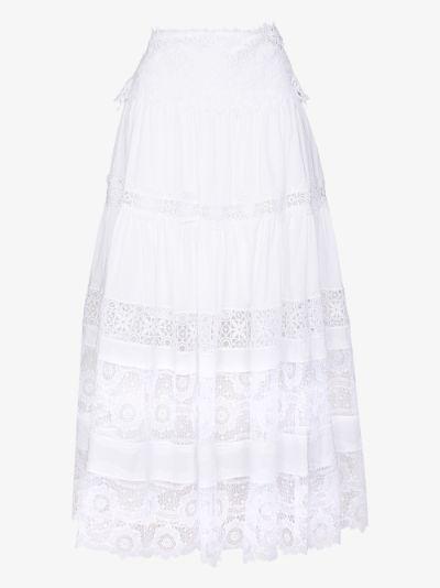 Clarke tiered maxi skirt