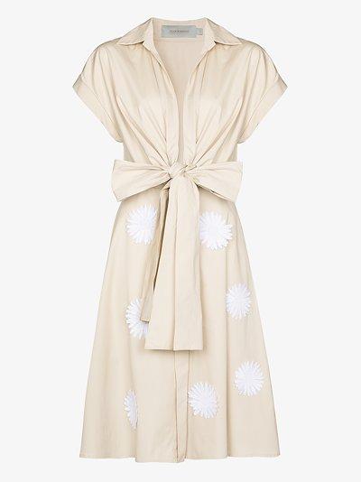 floral appliqué cotton dress