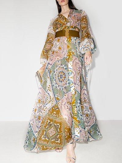 Inagua patchwork print maxi dress