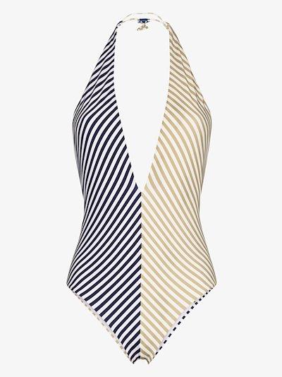Makumba striped reversible swimsuit