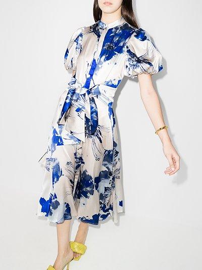 Ophelia floral print silk dress