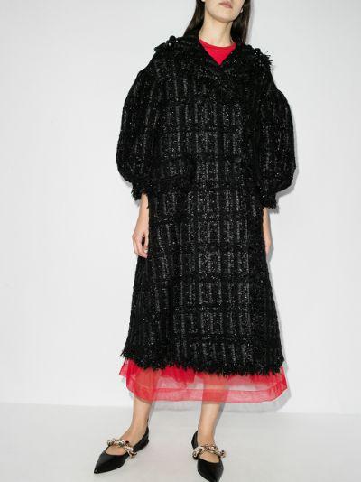 beaded tweed coat