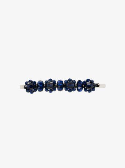 blue crystal flower hair clip