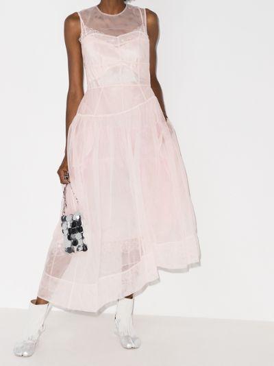 flared organza dress