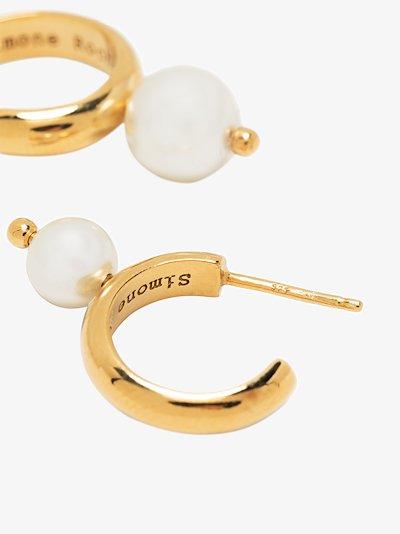 pearl small hoop earrings