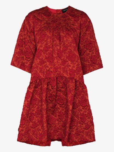X Browns 50 floral cloqué mini dress