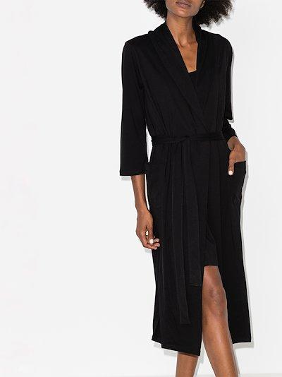 Carina wrap Pima cotton robe