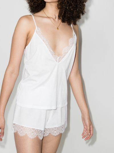 Myra lace trim camisole top