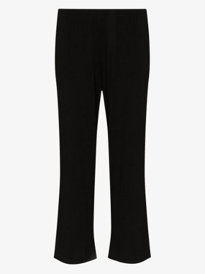 Noelle wide leg cropped trousers