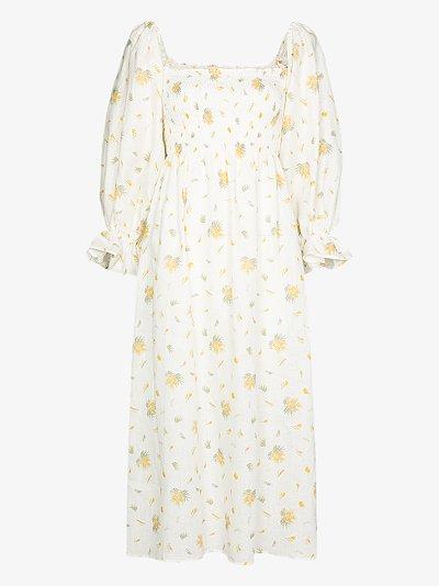 atlanta floral print midi dress